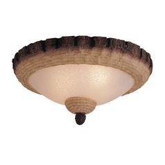 Light Kit with Beige / Cream in Weathered Iron / Tan Scavo Finish