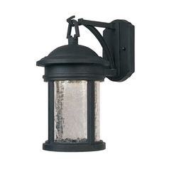 LED Outdoor Wall Light with Clear Glass in Oil Rubbed Bronze Finish