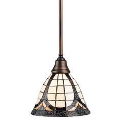Design Classics Lighting Tiffany Mini-Pendant Light 5979-20