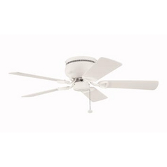Kichler 42-Inch Natural White Ceiling Fan with Five Blades