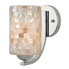 Sconce with Mosaic Glass in Chrome Finish