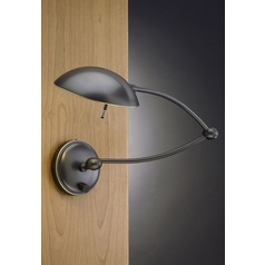 Holtkoetter Swing Arm Lamp in Hand-Brushed Old Bronze Finish