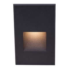 Wac Lighting Black LED Recessed Step Light