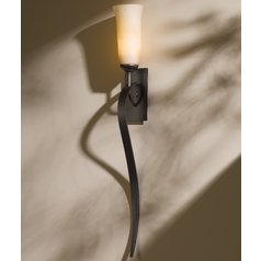 Hubbardton Forge Lighting Sweeping Taper Dark Smoke Sconce