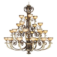 Livex Lighting Seville Palacial Bronze with Gilded Accents Chandelier