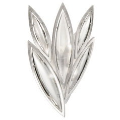 Fine Art Lamps Marquise Platinized Silver Leaf Sconce