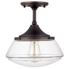 Capital Lighting Burnished Bronze Semi-Flushmount Light