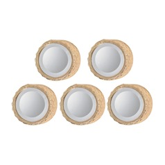 Set of 5 Honeycomb Deep Frame Wall Mirror