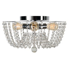 Kenroy Home Celeste Chrome Flushmount Light