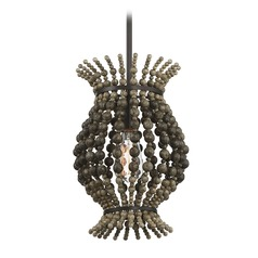 Bronze Pendant Light with Abstract Shade Madison Collection by Savoy House