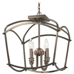 Minka Lavery Jupiter's Canopy Polished Nickel Semi-Flushmount Light