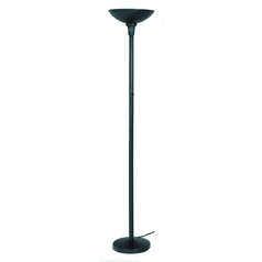 Lite Source Lighting Servo Black Torchiere Lamp with Bowl / Dome Shade
