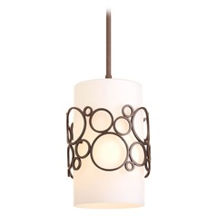 Progress Modern Mini-Pendant Light with White Glass