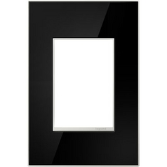 Legrand Adorne Mirror Black 1-Gang 3-Module Switch Plate