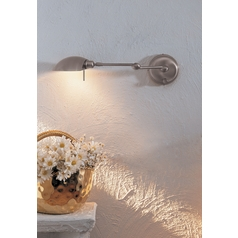 Holtkoetter Swing Arm Lamp in Satin Nickel Finish