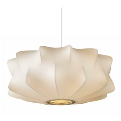 Avenue Lighting Melrose Place Large White Pendant Light