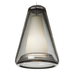 Billow Satin Nickel Mini-Pendant Light by Tech Lighting