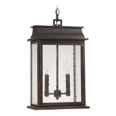 Capital Lighting Bolton Old Bronze Outdoor Hanging Light