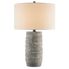 Currey and Company Inkeeper Rustic Table Lamp with Drum Shade