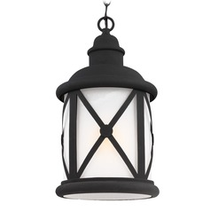 Sea Gull Lighting Lakeview Black LED Outdoor Hanging Light