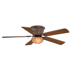 Corazon Aged Bronze Ceiling Fan with Light by Vaxcel Lighting