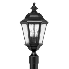 LED Seeded Glass Post Light Black 3 Lt 21.25-Inches Tall by Hinkley Lighting