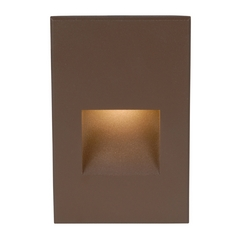 Recessed step lights recessed stair lighting wac lighting bronze led recessed step light aloadofball Choice Image
