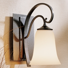 Hubbardton Forge Lighting Scroll Natural Iron Sconce