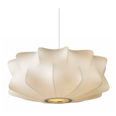 Avenue Lighting Melrose Place Small White Pendant Light