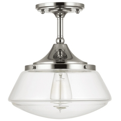 Capital Lighting Polished Nickel Semi-Flushmount Light