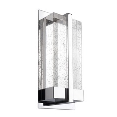 Modern Chrome LED Sconce with Bubble Shade 3000K 250LM