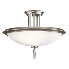 Kichler Lighting Dreyfus Classic Pewter Semi-Flushmount Light