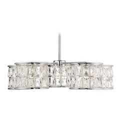 Polished Chrome LED Chandelier Citrine Collection by Savoy House