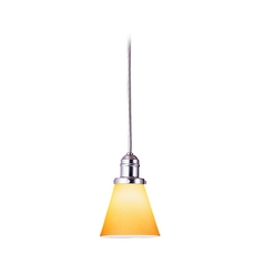 Hudson Valley Lighting Mini-Pendant Light with Amber Glass 3101-SN-505A