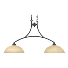 Pendant Light with Alabaster Glass in Burnished Bronze Finish