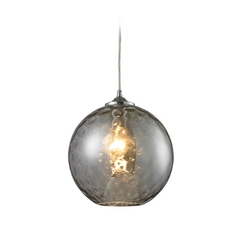 Elk Lighting Modern Mini-Pendant Light with Grey Glass 31380/1SMK
