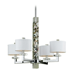 Chrome Chandelier with Abalone Shell
