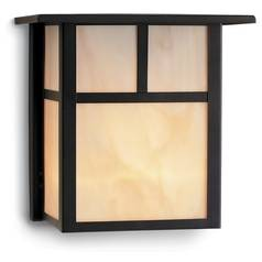 Craftsman Style Outdoor Wall Light in Bronze 8 Inches Tall
