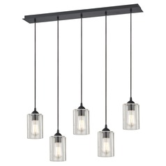 Design Classics Gala Neuvelle Bronze Multi-Light Pendant with Cylindrical Shade