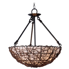 Kenroy Home Lighting Thicket Rattan Semi-Flushmount Light