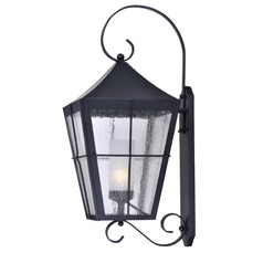 Frosted Seeded Glass Outdoor Wall Light Black Maxim Lighting