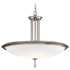 Kichler Lighting Dreyfus Classic Pewter Pendant Light with Bowl / Dome Shade