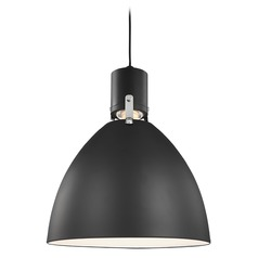 Feiss Lighting Brynne Matte Black LED Barn Light with Bowl / Dome Shade
