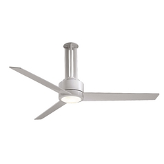 56-Inch Modern Ceiling Fan with Light with White Glass