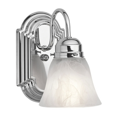 Kichler Sconce with Alabaster Glass in Chrome Finish