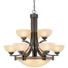 Bronze Chandelier with Twelve Lights