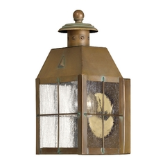 Seeded Glass Outdoor Wall Light Brass Hinkley Lighting