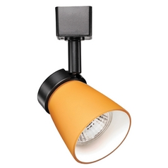 WAC Lighting Black Track Light with Amber Shade For L-Track