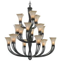 Golden Lighting Genesis Roan Timber Chandelier
