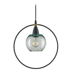 Mid-Century Modern Pendant Light Blacksmith / Brass Moorsgate by Currey and Company Lighting